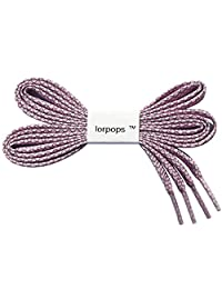 lorpops Reflective Flat Shoelaces, 1 Pair 12Colors,2Length,5/16 inchesWidth