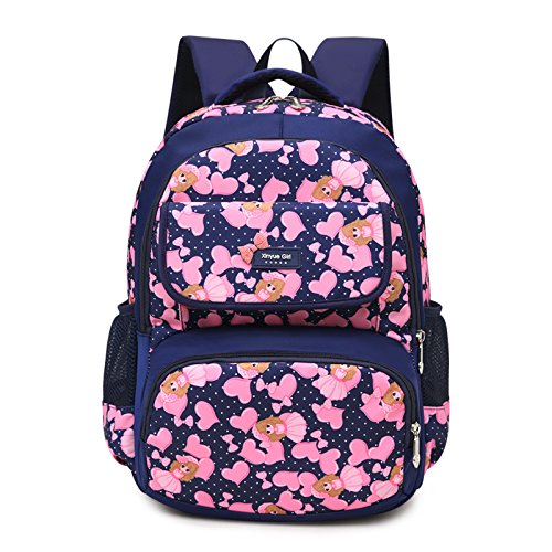 Children school bags 6-9 years young girls School Bags Orthopedic Backpack (Deep Blue)