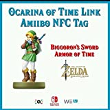 Ocarina of Time Link Customized Amiibo NFC Tag Card - Zelda Breath of the Wild 30th Anniversary