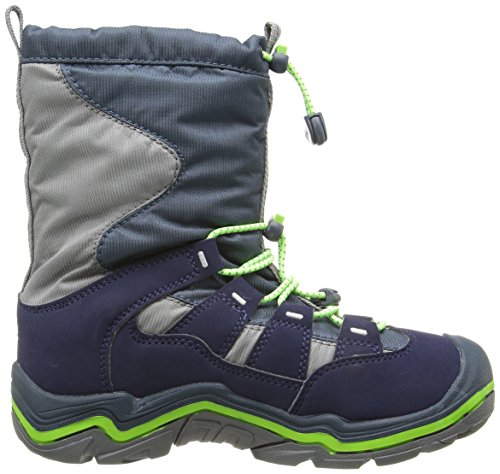 Keen Unisex Kids' Winterport Ii Wp High Rise Hiking Shoes, 12 M US Blue (Midnight Navy/Jasmine Green)