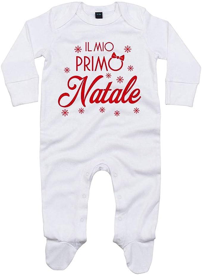 Foto Pariando Tutina con Maniche Lunghe e Piedini neonata in Cotone Biologico Personalizzato con Nome Piccola Zucca
