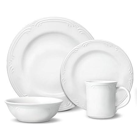 Pfaltzgraff Filigree 16 Piece Dinnerware Set, Service for 4