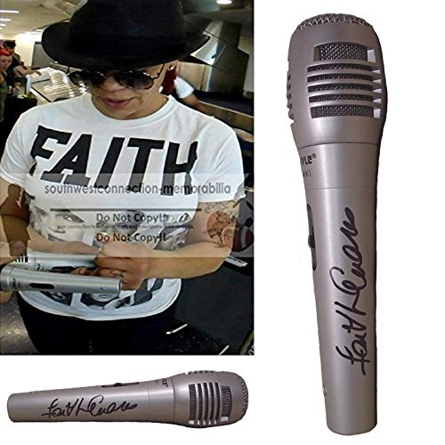 Faith Evans Signed Hand Autographed Microphone with Exact Proof Photo of Faith Signing the Mic, Notorious Biggie Smalls Wife, Bad Boy, COA