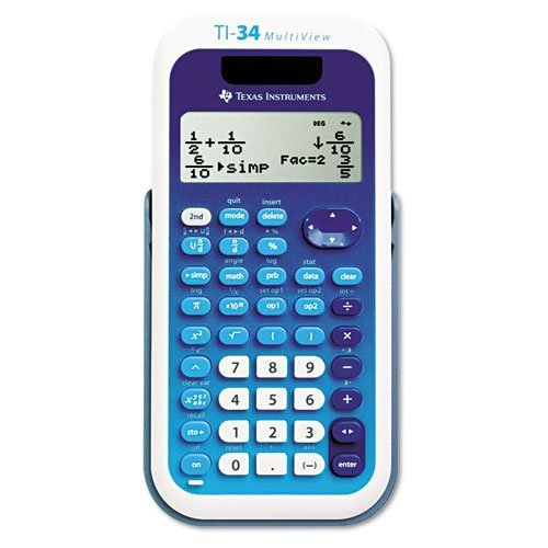 Texas Instruments : TI-34 MultiView Scientific Calculator -:- Sold as 2 Packs of - 1 - / - Total of 2 Each by Texas Instruments
