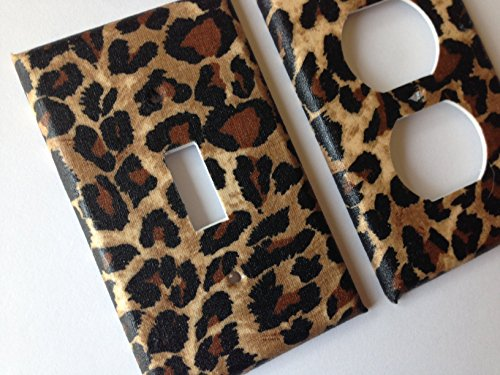 Leopard Light Switch Cover - Various Sizes Offered