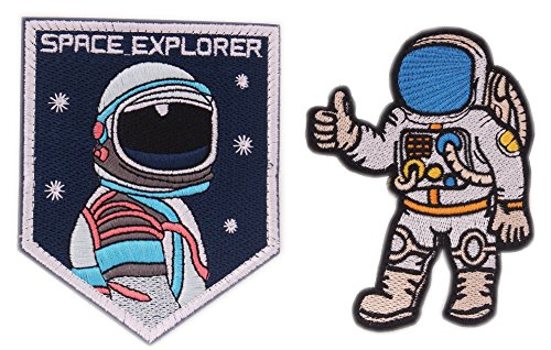 Morale Patch Velcro USA NASA Astronaut Space 3D Embroidered Flight Space Explorer Research Combination Badge Patch -