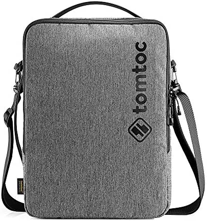 tomtoc 13 Inch Laptop Shoulder Bag for 12.9 iPad Pro, 12.3 Surface Pro, 13-inch MacBook Air MacBook Pro, 13.5 Surface Book Laptop, Sturdy Spill-resistant Protective Cross-body Commuter Case