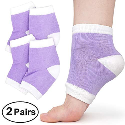 Dr. Foot's Heel Moisturizing Socks For Dry Cracked Feet 4 Pack - Gel Lined Heel Sleeves For Dry Heels - Cracked Heel Treatment Open Toe Socks For Heal, Calluses