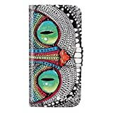 Changeshopping(TM)LANDFOX Retro Flip Owl Pattern Leather Stand Wallet Case Cover Skin for iPhone 5 5S