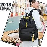 Laptop Bag School Backpack College Bookbag for Teen Girls Canvas Laptop Bag and Women Backpack. (Cool - Black)