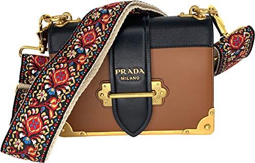 (Red Vintage Handbag Strap & Purse Strap Replacement - Jacquard Woven Embroidered Guitar Strap Styled Shoulder Bag Strap - Adjustable Bag Strap For Tote And Messenger Bags -Gold Hardware )