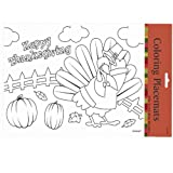 Thanksgiving Coloring Placemats (24) Party Supplies