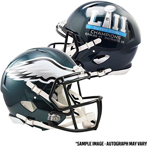 Riddell Philadelphia Eagles Super Bowl LII Champions Revolution Speed Authentic Football Helmet - Fanatics Authentic Certified (Riddell Philadelphia Revolution Eagles)