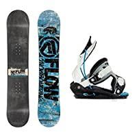 Flow Micron Stomper and Micron Kids Kids Snowboard and Binding Package 2015 from Flow