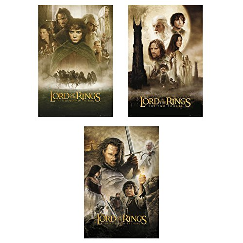 The Lord of The Rings 1, 2 & 3 - Movie Poster Set (3 Posters) (Size: 24