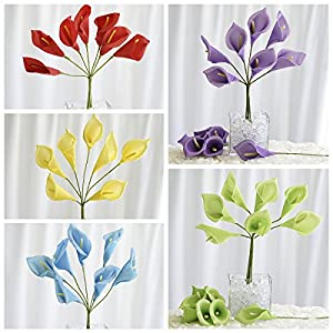BalsaCircle 42 Silk Calla Lily Flowers - 6 Bushes - Artificial Flowers Wedding Party Centerpieces Arrangements Bouquets Supplies 18