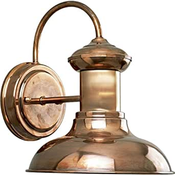 Progress Lighting P5721-14 1-Light Wall Lantern, Copper