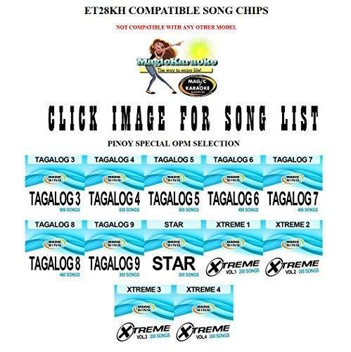 Magicsing ET28KH compatible song chips Tagalog 14. Only works with 2015 model ET28KH