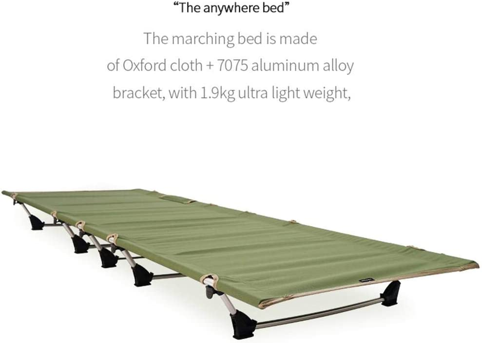 Blentude Camping Bed For Adults,Ultralight Camping Cot Bed Weight Capacity 120kg Extra Wide Heavy Duty Folding Camp Bed Cot Single For Travel Outdoor Office