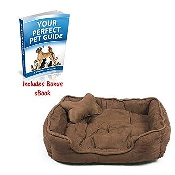 Lujo Faux Suede caja perro cama proporcionará un perfecto, acogedor y cómodo para descansar perro