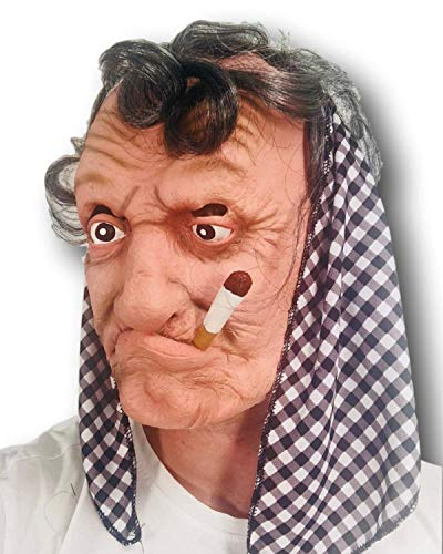 Rubber Johnnies Smokey Old Woman Mask, Adult, One Size, Granny Mask for $<!--$16.97-->