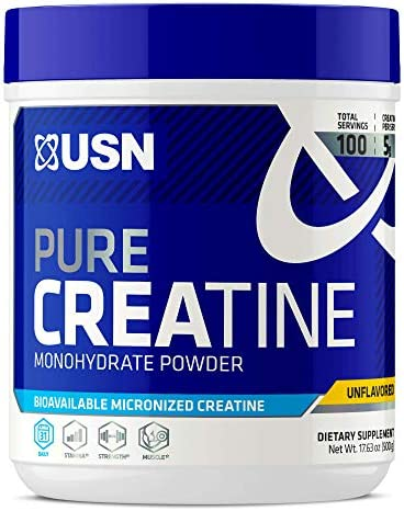 USN Pure Creatine Monohydrate Powder, 500 Grams