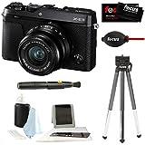 Fujifilm X-E3 Mirrorless 4K Digital l Camera w/XF 23mm f2 XF Lens (Black) & Focus Tripod & Accessories Kit