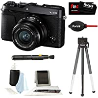 Fujifilm X-E3 Mirrorless 4K Digital l Camera w/ XF 23mm f2 XF Lens (Black) & Focus Tripod & Accessories Kit