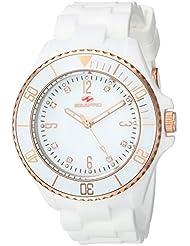 Seapro Womens SP7413 Bubble Analog Display Swiss Quartz White Watch