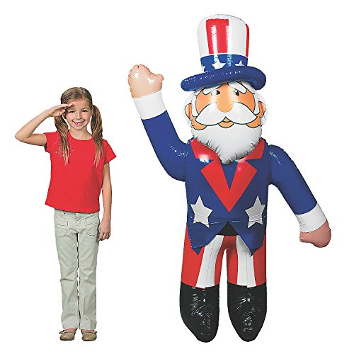 Fun Express - Jumbo Inflate Uncle Sam for Fourth of July - Toys - Inflates - Inflatable Characters - Fourth of July - 1 Piece