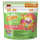 Gain Flings Tropical Sunrise Laundry Detergent Packs, 16 Count (Pack of 6)