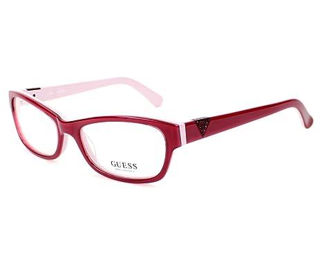 9c4c2a9bfad Guess Women s Glasses GU2295 RD (53x17) Red (GUGL001)  Amazon.co.uk ...