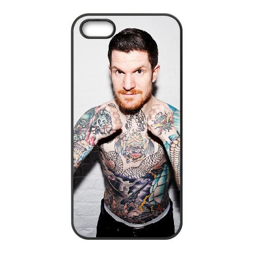 Andy Hurley 002 coque iPhone 5 5S cellulaire cas coque de téléphone cas téléphone cellulaire noir couvercle EOKXLLNCD21638