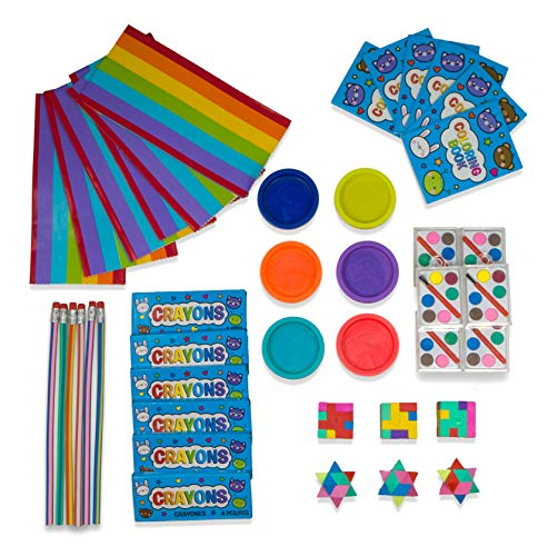 - Party Favor Set for Kids - Fun Assortment of Art Inspired Gifts - Goodie Bags Included - Creative Kit 6 Pack (42 pieces)