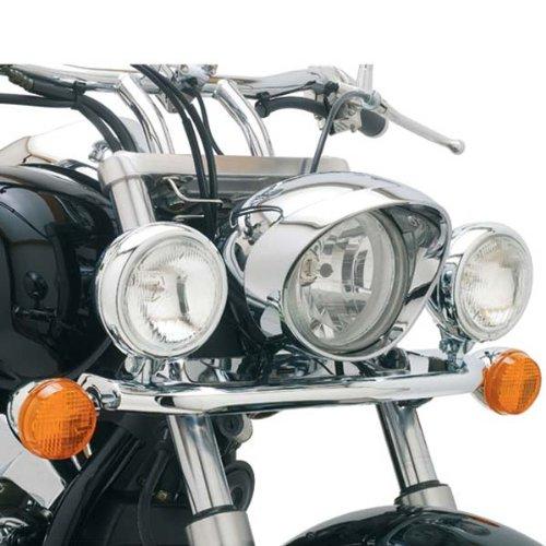 04-09 HONDA VTX1300C: Cobra Lightbar - Chrome (CHROME) - Chrome 4 Spotlight