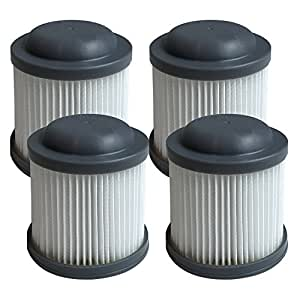 4 Replacement for Black & Decker Filter Fits PVF110, PHV1210 & PHV1810 Vacuums, Compatible With Part # 90552433, Washable & Reusable, By Think Crucial