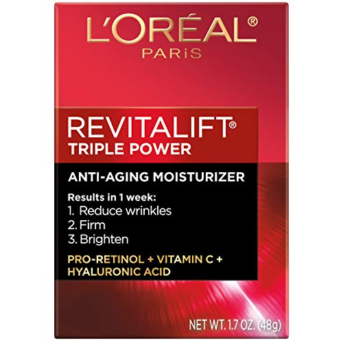 51S6s%2Be57VL - Face Moisturizer by L'Oreal Paris Skin Care I Revitalift Triple Power Anti-Aging Face Cream with Pro Retinol, Hyaluronic Acid and Vitamin C I 1.7 Oz.