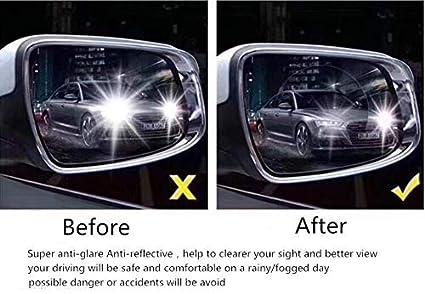Akozon Pel/ícula protectora del espejo retrovisor del coche 2 piezas Rect/ángulo transparente Anti niebla impermeable 150 x200mm