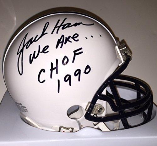 - Jack Ham Autographed Penn State Mini Riddell Helmet Inscr. We Are & CHOF 1990 Rare W/ COA