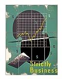 Strictly Business (John Buczak) Vertical Tile Mural Satin Finish 20''Hx16''W 4 Inch Tile