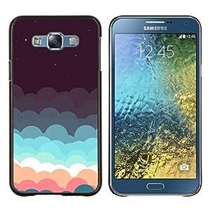 - aurora borealis purple night sky stars - - Modelo de la piel protectora de la cubierta del caso FOR Samsung Galaxy E7 E7000 RetroCandy