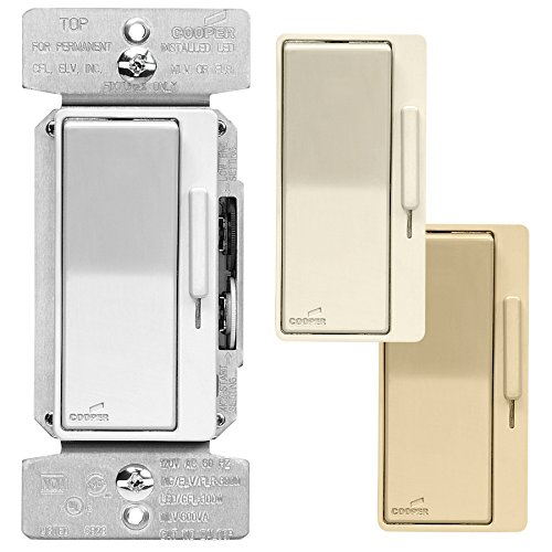 - Cooper Wiring Devices Devine 8-Amp Ivory Slide Dimmer