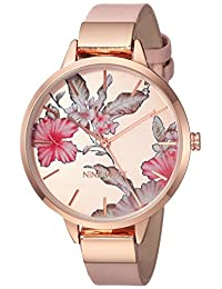 nine west para mujer NW/2044rgpk Rose Gold-tone y Blush correa de color rosa reloj