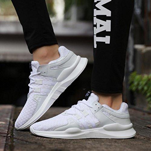 Femmes de Chaussures Chaussures Chaussures Loisirs Gym zycShang Lacets Respirant de Sport de Hommes pour Course Sport Blanc Chaussures xpt5wn5qUF