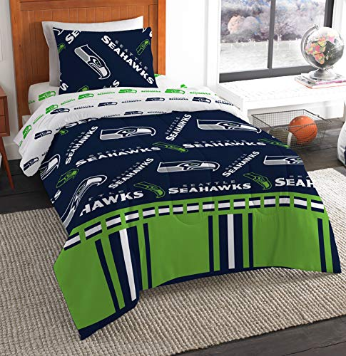 - The Northwest Company NFL Seattle Seahawks Twin Bed in a Bag Complete Bedding Set #217730581