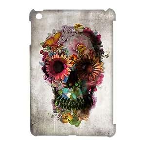 J-LV-F Sugar Skull Pattern 3D Case for iPad Mini