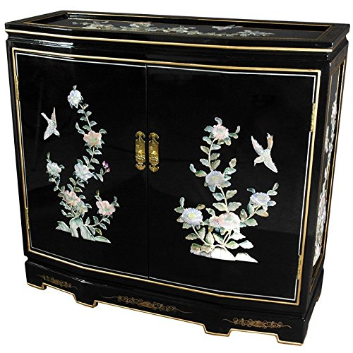 Floral Design Cabinet - Oriental Furniture 32
