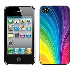 X-ray Impreso colorido protector duro espalda Funda piel de Shell para Apple iPhone 4 / iPhone 4S / 4S - Vertical Swirling Rainbow Colors Colorful