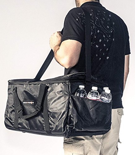 Insulated Food Delivery Bag - Commercial Quality Thermal Food Transport Bag - 22'' x 14'' x 11'' - Extra Strong Zipper With Thick Insulation Carrier - Large Black by DeliveryPizzaBags (Image #2)