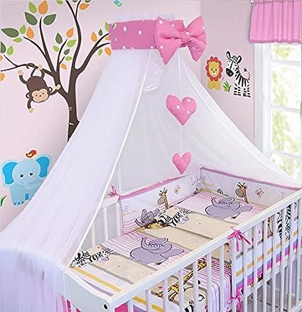 Safari Beige LUXURY 10Pcs BABY BEDDING SET COT PILLOW DUVET COVER BUMPER CANOPY to Fit Cot Size 120x60cm 100/% COTTON